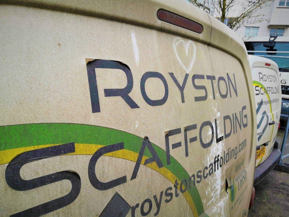 Royston Scaffolding Van